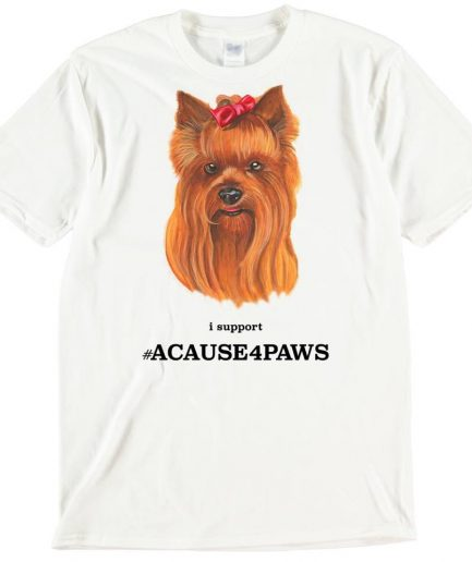 Yorkshire Terrier Dog T-Shirt ACAUSE4PAWS