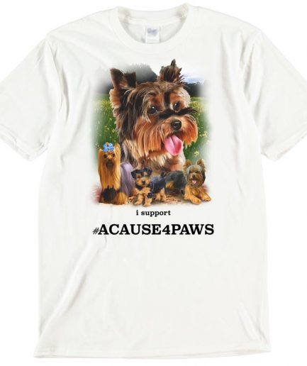 Yorkshire Terriers Dog T-Shirt ACAUSE4PAWS