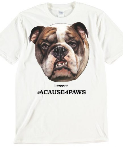 British Bulldog Dog T-Shirt ACAUSE4PAWS