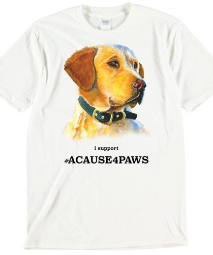 Labrador Retriever Dog T-Shirt ACAUSE4PAWS